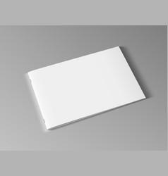 3d blank landscape horizontal brochure or magazine vector
