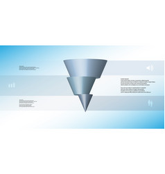 3d infographic template with cone horizontally vector