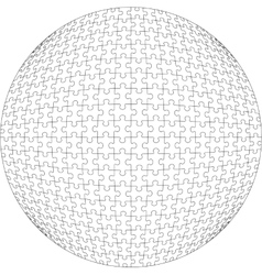 3d puzzle ball in color 21 vector image