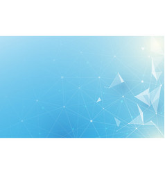 abstract low polygonal with science and technology vector image