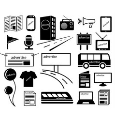 advertise channels media icon vector image