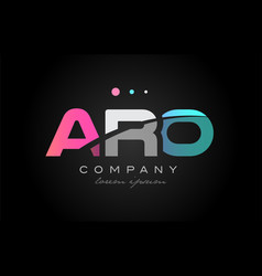 aro a r o three letter logo icon design vector image