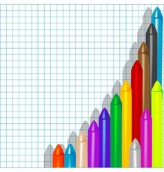 background with crayons1 vector image