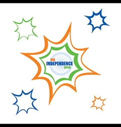big independence day offer banner with big blast vector image