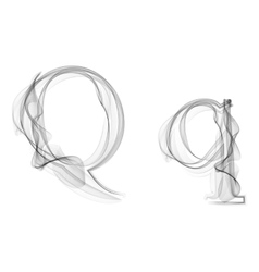 Black smoke font letter q vector