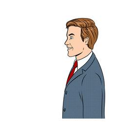 Businessman pop art vector