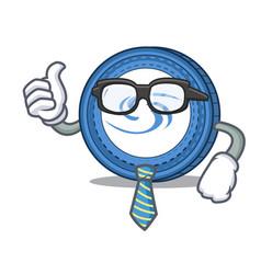 Businessman syscoin character cartoon style vector
