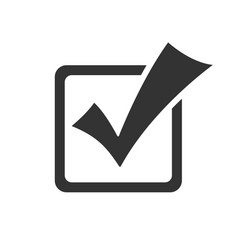 checkbox in flat style isolated on white vector image