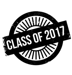 Class of 2017 stamp vector