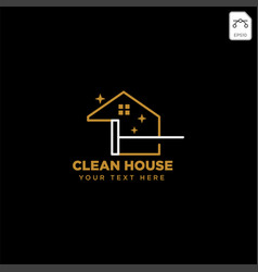 cleaning service house eco logo template icon vector image