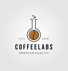 coffee lab hipster retro vintage logo badges vector image