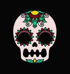 Color patterns on a white skull vector