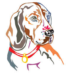 Colorful decorative portrait of beagle vector