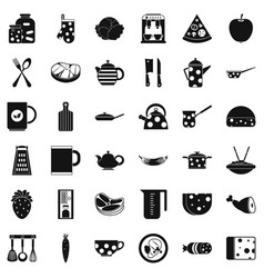 cooking icons set simple style vector image