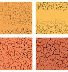 Cracks on ground vector