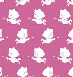 Cupid background Seamless pattern cute Angel with vector image