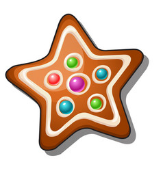 delicious gingerbread in the shape of a star vector image