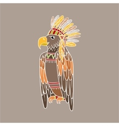 Eagle Wearing Tribal Clothing vector
