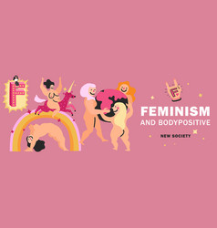 feminism header vector image