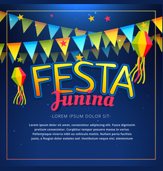 Festa junina party poster vector