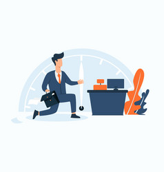finishing office time with big hurry vector image