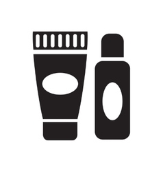 Flat icon in black and white gel cream vector