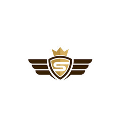 fly king logo icon design vector image