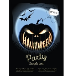 Halloween poster on the background of a vector image