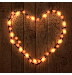 Happy Valentine s Day Wood Background with Bright vector image