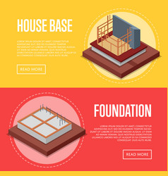 house base construction posters set vector image