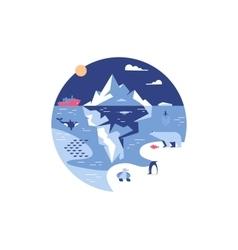 Iceberg in sea or ocean vector