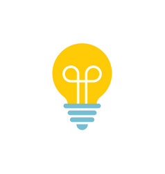 icon lightbulbs with filament - device for vector image