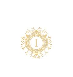 initial i wedding boutique logo designs vector image