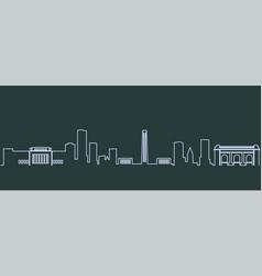 kansas city single line skyline vector image