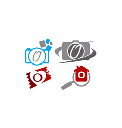 Logotype o modern template set vector