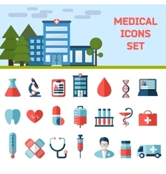 Medical flat infographic background vector