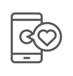 Medical service line icon vector