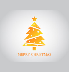 merry christmas greeting card gold luxury design vector image