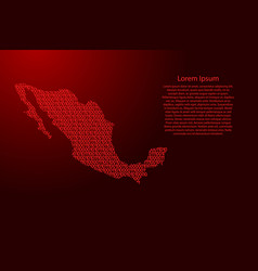 mexico map abstract schematic from red ones and vector image