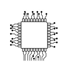Microchip circuit technology vector