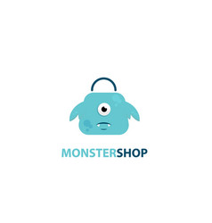 monster shop logo vector image