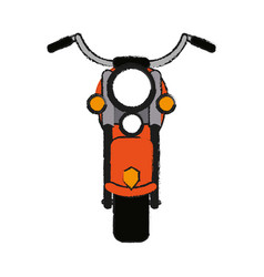 Motorcycle draw vector