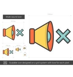 Mute sound line icon vector