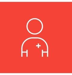 Nurse line icon vector