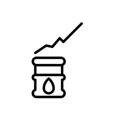 Oil investment icon vector