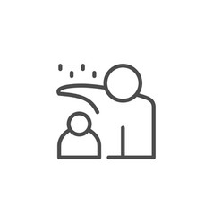 Parent and child line outline icon vector