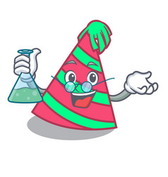 Professor party hat character cartoon vector