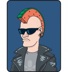 punk rocker vector image