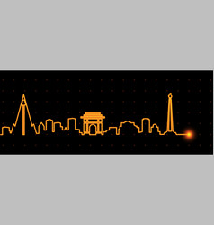 pyongyang light streak skyline vector image