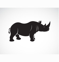 rhinoceros design on a white background wild vector image